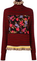 MSGM floral striped pullover