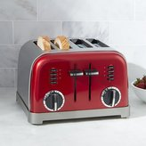 Crate & Barrel Cuisinart ® Classic 4-Slice Red Toaster