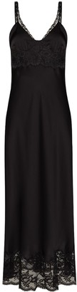 Paco Rabanne Lace Panelled Long Dress
