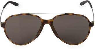 Carrera 57MM Faux Tortoiseshell Aviator Sunglasses