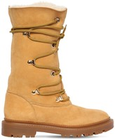 Casadei 20mm Leather & Shearling Boots