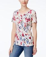 Karen Scott Print T-Shirt, Only at Macy's