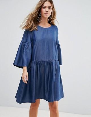 Just Female Wang Flared Sleeved Dress