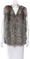 Yves Salomon Fox Fur V-Neck Vest w/ Tags