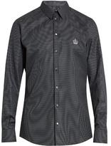Dolce & Gabbana Diamond-jacquard Single-cuff Cotton Shirt