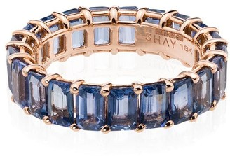 Shay 18kt rose gold Eternity sapphire ring
