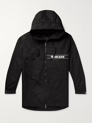 Moncler Ildut Reflective-Trimmed Logo-Print Shell Hooded Jacket