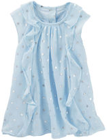 Osh Kosh 2-Piece Chiffon Foil Print Dress