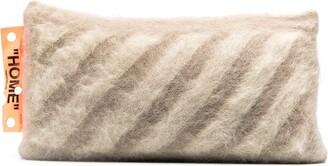 Off-White Diagonal Stripe Cushion