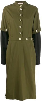 Marni military midi dress