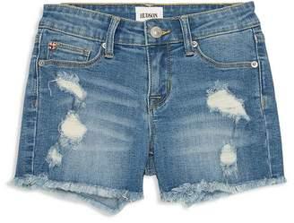 Hudson Girls' Destroyed Denim Shorts - Little Kid