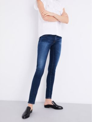 AG Jeans The Prima distressed skinny mid-rise jeans