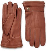 Dents Gloucester Cashmere-lined Full-grain Leather Gloves - Brown
