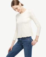 Ann Taylor Ruffle Hem Sweater