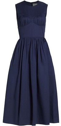 TOVE Delphine Sleeveless Midi Dress
