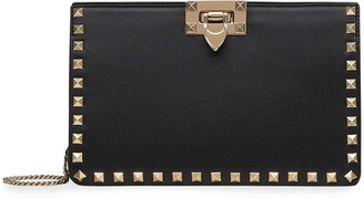 Valentino Rockstud Leather Clutch Bag