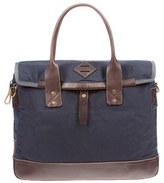 Will Leather Goods Men's 'Zig Zag Lookout' Briefcase - Blue