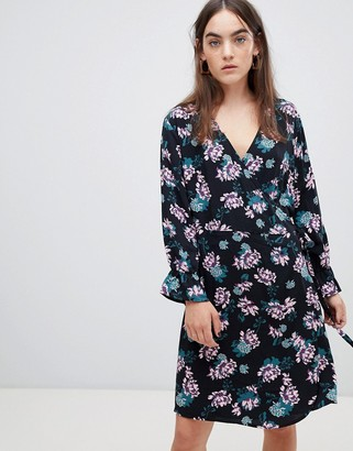 B.young Floral Wrap Dress-Multi