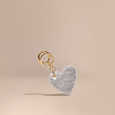 Burberry Sequinned Heart Key Charm, Yellow