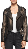 Calvin Klein Molten Faux Leather Moto Jacket