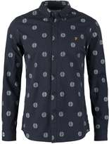 Farah Millfield Slim Fit Shirt True Navy Marl
