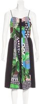 Clover Canyon Mixed Print Midi Dress