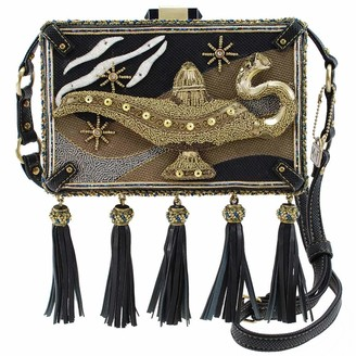 Mary Frances Disney Live Action Aladdin Genie Lamp Crossbody Handbag Purse Gold