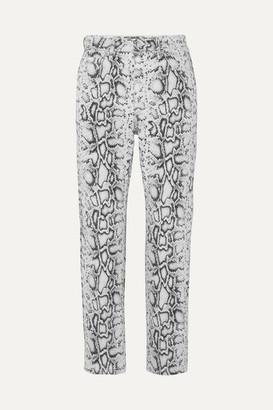 Alexander Wang Bluff Snake-print High-rise Straight-leg Jeans - Snake print