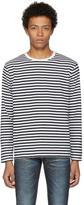 Nanamica Black and White Long Sleeve Coolmax T-Shirt
