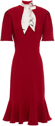 Sachin + Babi Fluted Tie-neck Crepe Dress