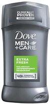 Dove Men+Care Antiperspirant Deodorant Stick, Extra Fresh 2.7 oz, 4 Count