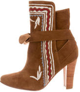 Ulla Johnson Aggie Embroidered Ankle Boots w/ Tags