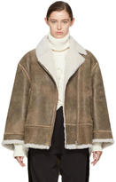 MM6 MAISON MARGIELA Brown Vintage Shearling Jacket