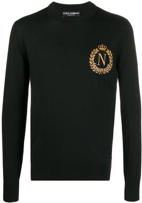 Dolce & Gabbana Napoleon embroidered jumper