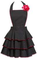 Carolyn's Kitchen Petite Dot Party Apron in Black