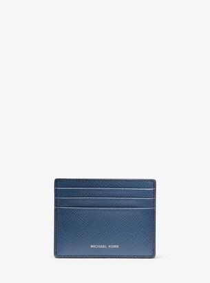 Michael Kors Crossgrain Leather Tall Card Case