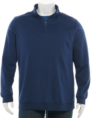 Croft & Barrow Big & Tall Fleece Quarter-Zip Pullover