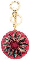 Burberry flower keyring - women - PVC/Polyester/Cotton/Calf Leather - One Size