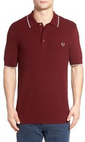 Fred Perry Men's Checkerboard Knit Polo Shirt