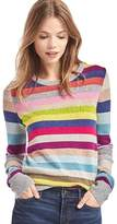 Gap Crazy stripe shimmer merino wool blend sweater