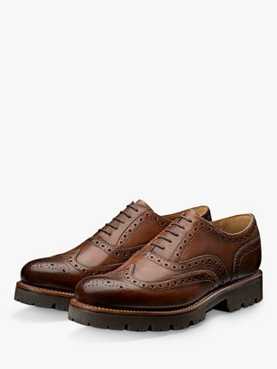 Grenson Stanley Leather Oxford Brogues, Tan