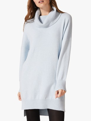 Phase Eight Palmer Cowl Neck Dress, Pale Blue