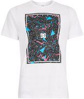 Dc White Triangle Print Panel T-shirt