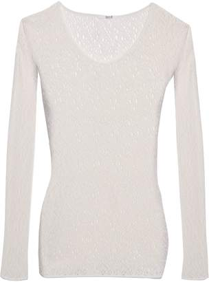Wolford Open-knit Wool-blend Top
