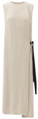 Raey Hidden-belt Pleated Dress - Grey