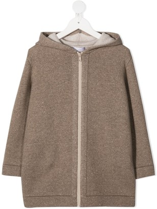 BRUNELLO CUCINELLI KIDS Long-Length Zip-Up Hoodie