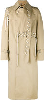Craig Green laced trench coat - men - Cotton - S