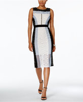 Jax Colorblocked Lace Sheath Dress