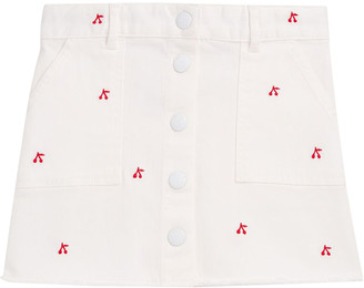 Bonpoint Kids Exie Cherry-embroidered Skirt