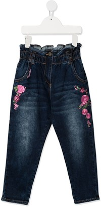 MonnaLisa Embroidered-Rose Jeans
